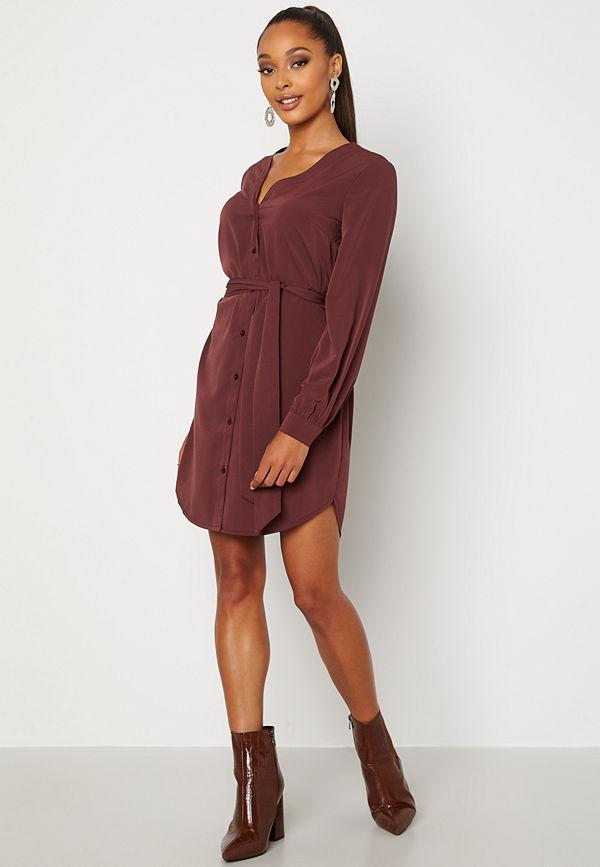 Bubbleroom Fenne shirt dress Wine-red