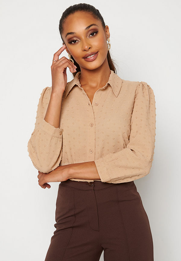 Happy Holly Felicity blouse Beige