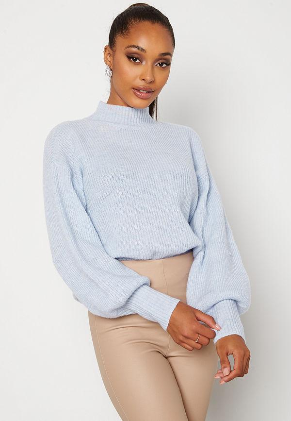 Bubbleroom Madina knitted sweater Light blue