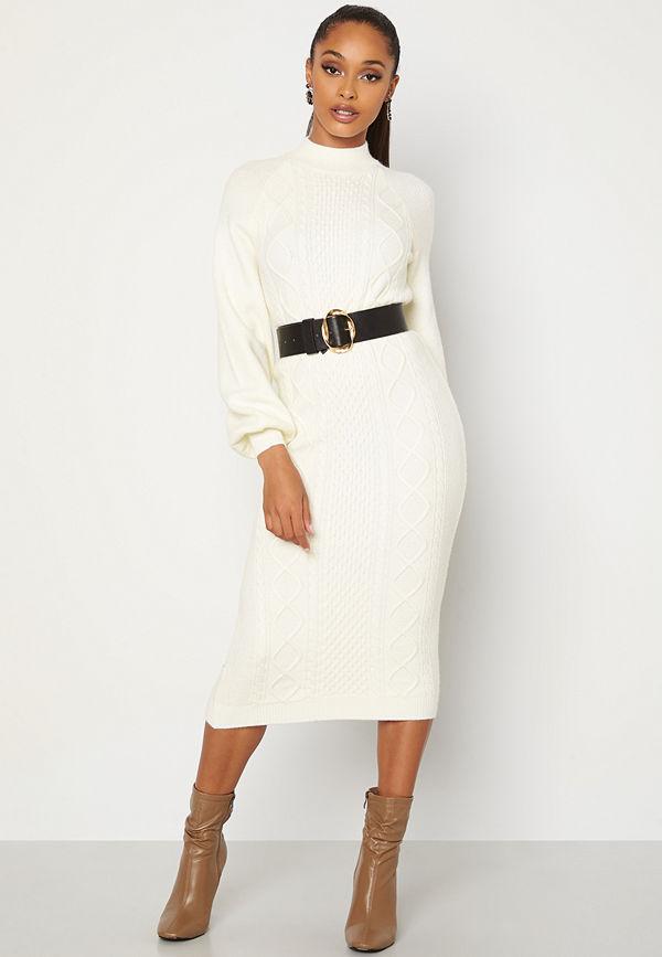 Bubbleroom Aisha knitted dress White