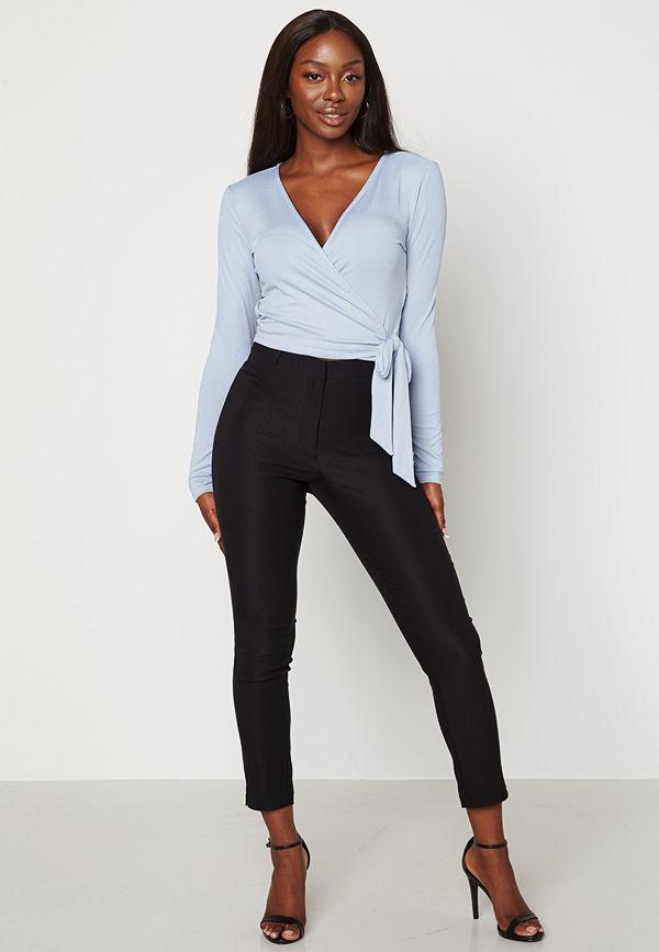 Bubbleroom svarta byxor Lorene stretchy suit trousers Black