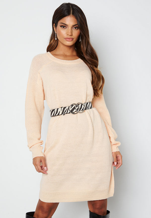 Ichi Novo Knitted Dress 133801 Crystal Gray