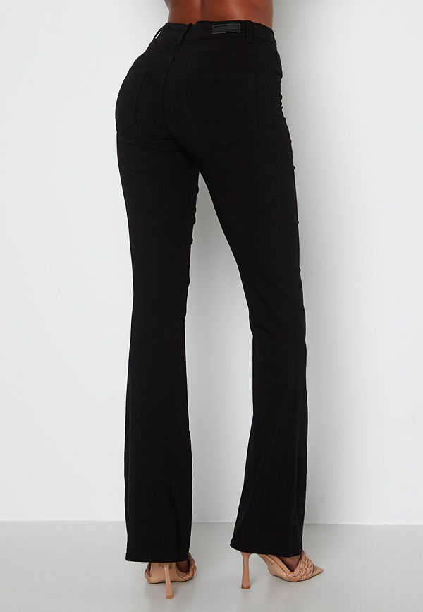 Pieces byxor Highskin Flared Pant Black