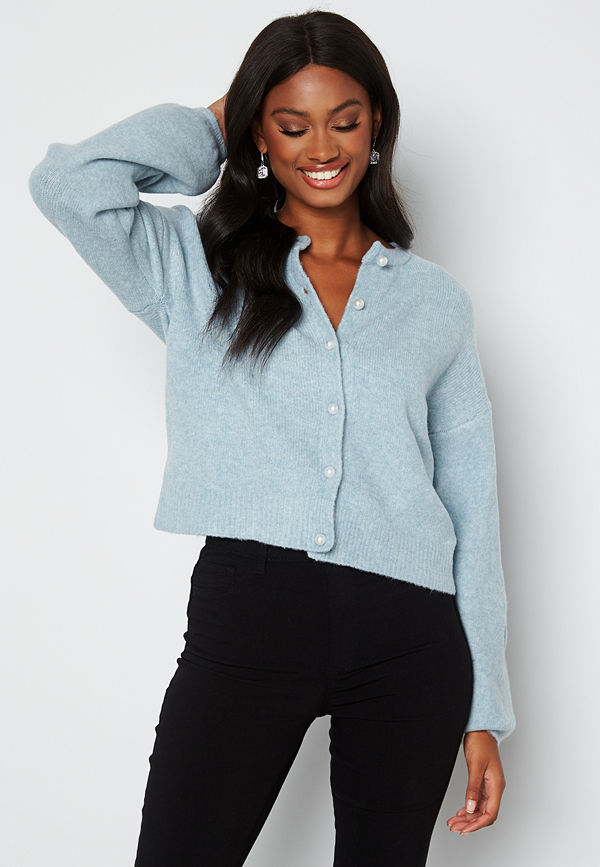 Only Isabella L/S Cardigan Knit Cashmare Blue