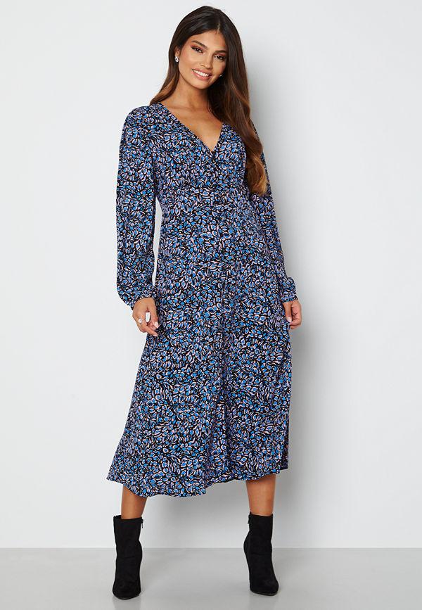 Only Tanny L/S Midi Dress Campanula City Leafy