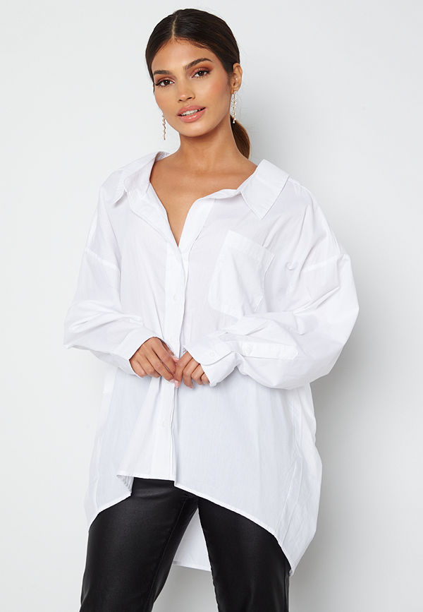 Only Sofia L/S Loose Shirt Bright White