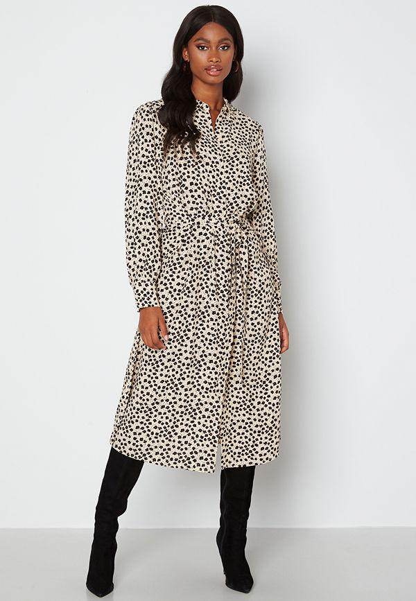 Object Collectors Item Sofia L/S Shirt Dress Sandshell AOP