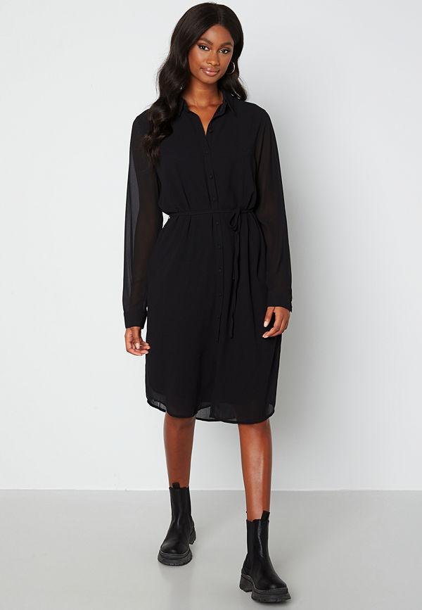 Object Collectors Item Mila bay shirt dress Black