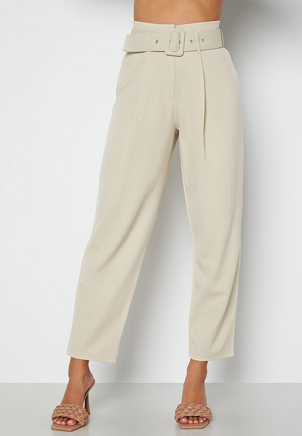 Chiara Forthi omönstrade byxor Traviata soft suit pants Light beige