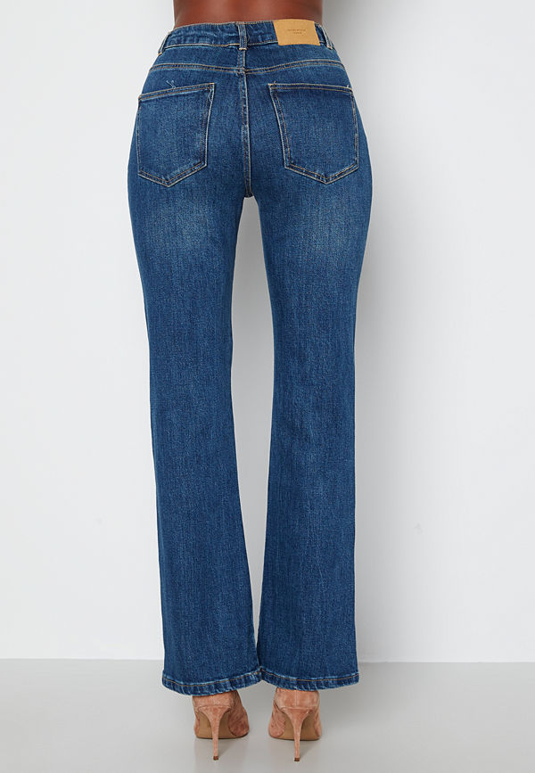 Vero Moda Saga HR S Flared Jeans Dark Blue Denim