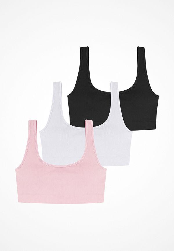 Dorina Flo 3PP Bralette 3X0051- White/Pink/B