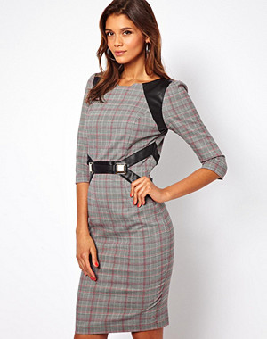 Paper Dolls Harness Dress in Check