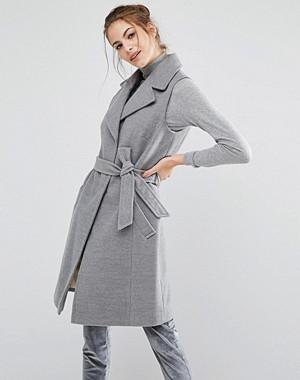 Oasis Sleeveless Belted Smart Coat