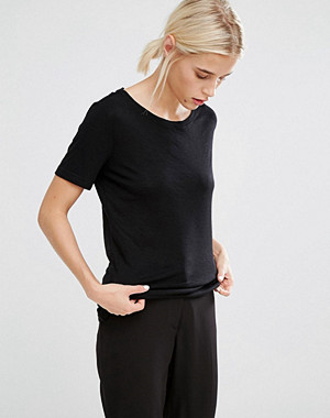 Monki Scoop Neck Tee