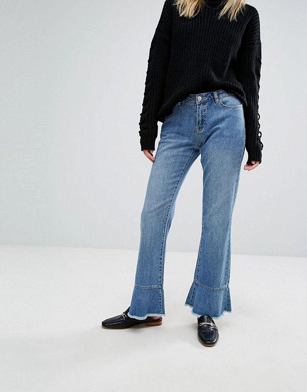 Vero Moda Jeans med volangfåll Ljusblå demin