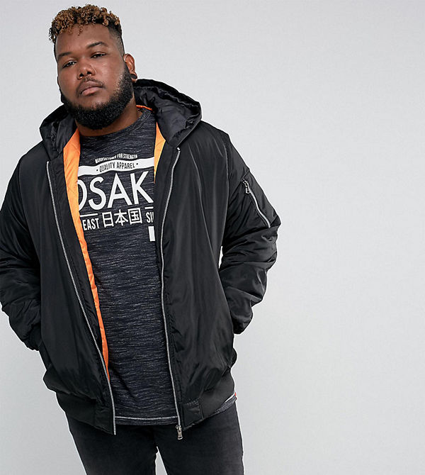 Duke PLUS Hooded Bomber Jacket