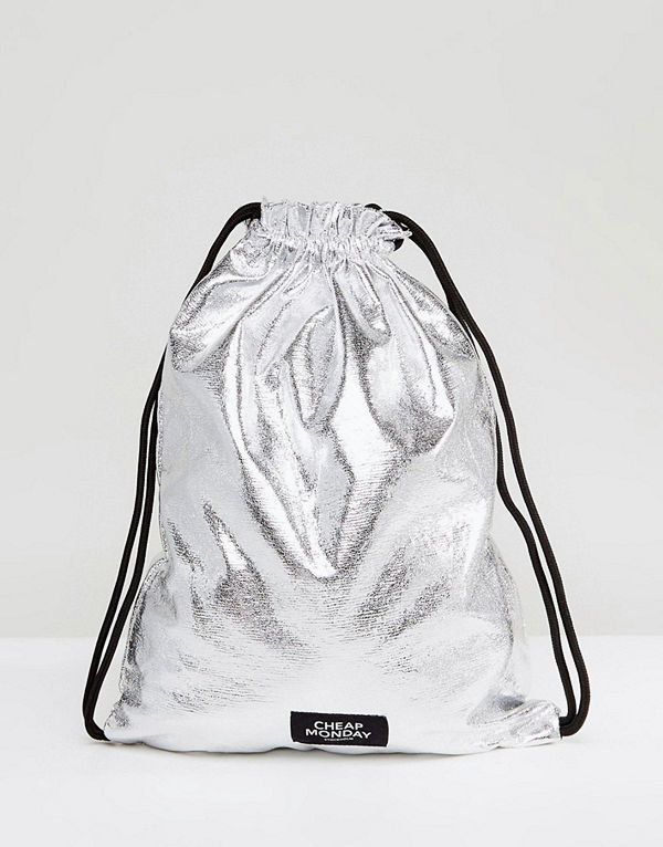Cheap Monday ryggsäck Metallic Drawstring Backpack