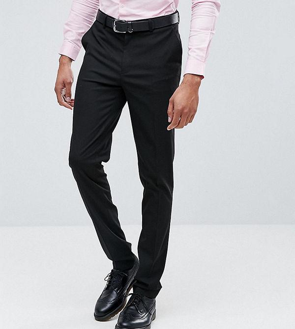 ASOS TALL Skinny Smart Trousers In Black
