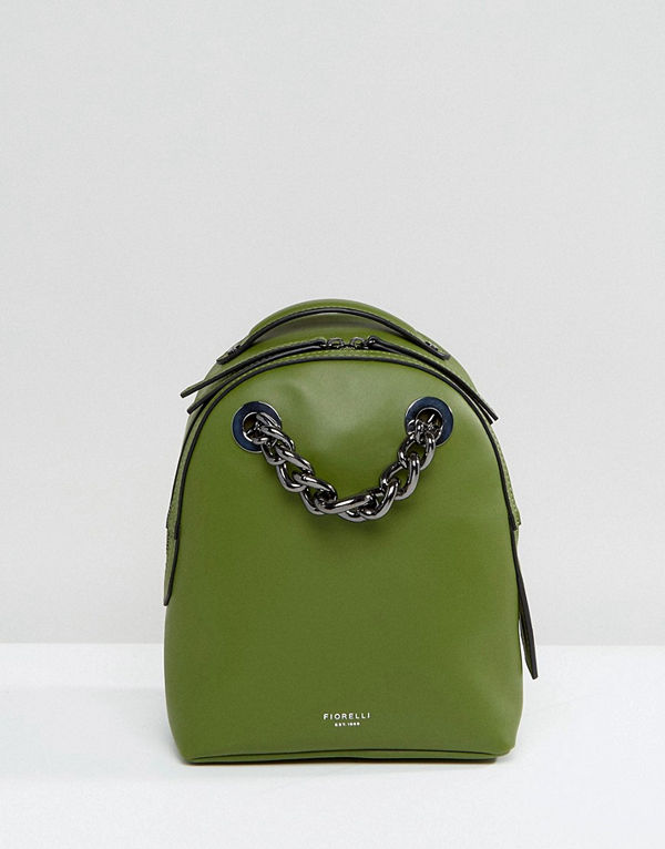 Fiorelli ryggsäck Anouk Mini Backpack in Green With Chain Detail