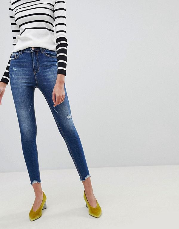 Stradivarius Smala jeans med superhög midja - Jeans online ... 0011b95471540