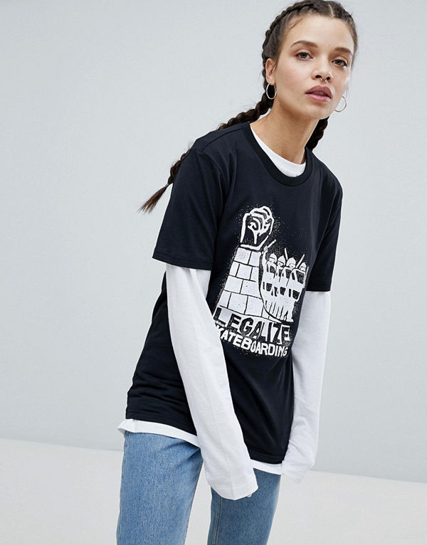 Adidas Skateboarding T-shirt i oversize-modell med Legalize-logga