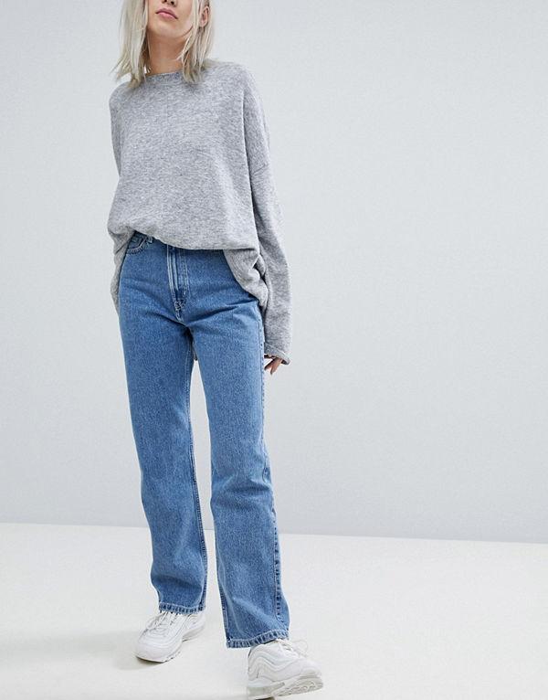 Weekday Row Blå jeans Himmelsblå