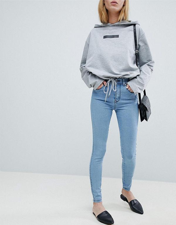 Dr. Denim Lexy Medelhöga skinny jeans Pure light blue