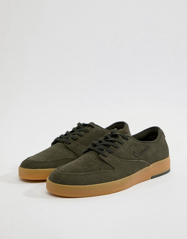 Nike Sb P-Rod X Trainers With Gum Sole In Green 918304-300 - Green