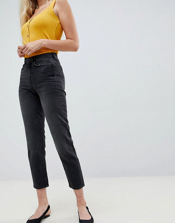 Vero Moda Jeans med raka ben Mörkgrå denim