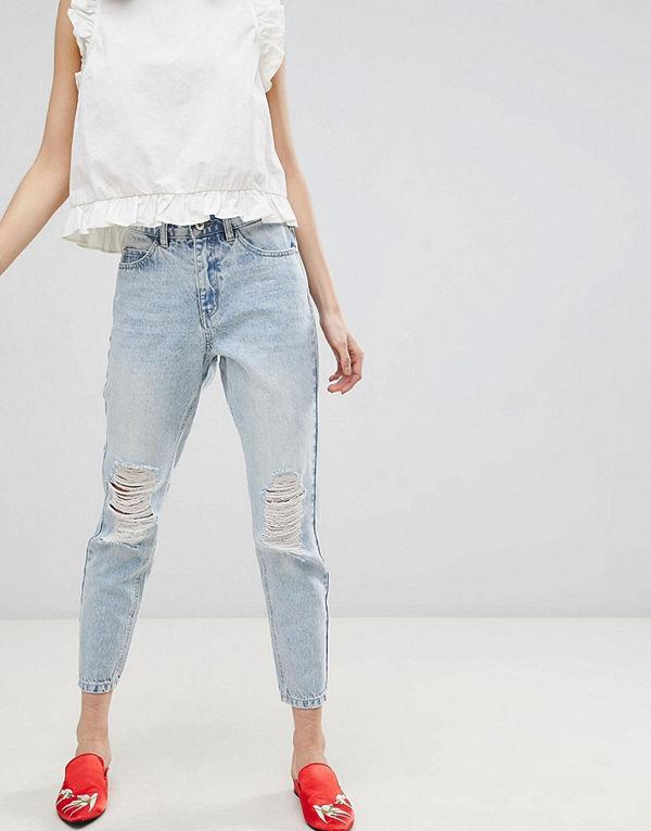 "Vero Moda Slitna jeans i ""mom jeans""-modell"