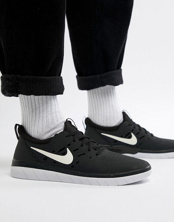 Nike Sb Nyjah Free Skateboarding Trainers In Black AA4272-001