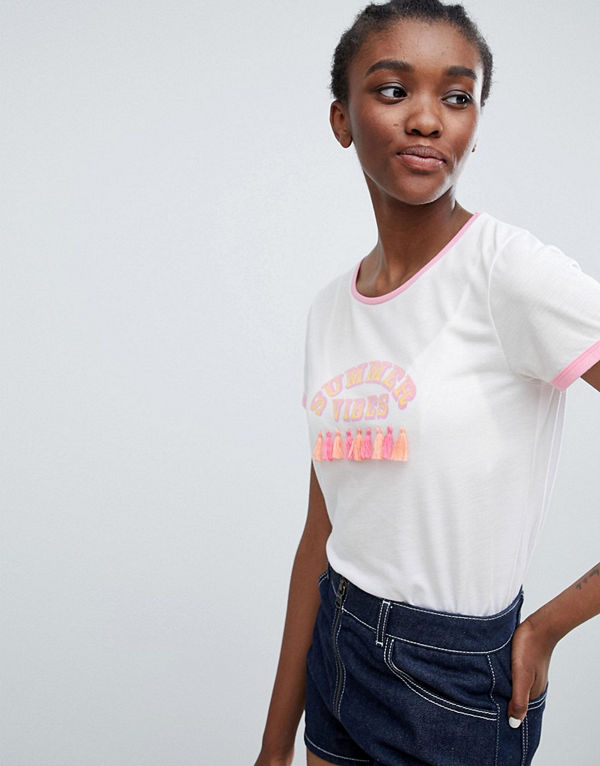 Sugar Dust T-shirt med tofs Summer Vibes