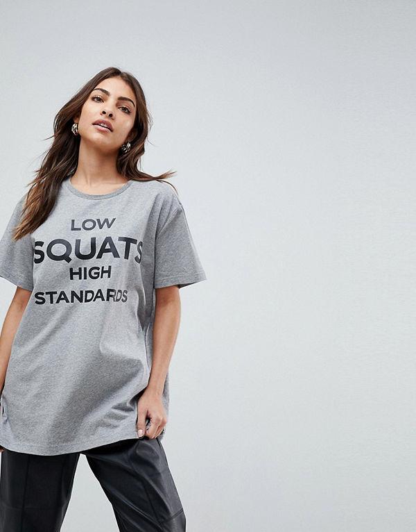 Haus by Hoxton Haus T-shirt för gymmet med text-tryck