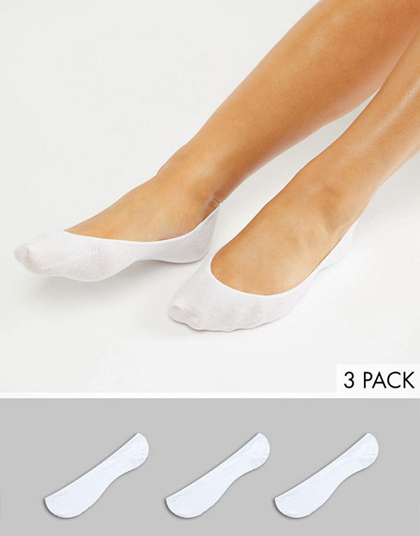 Monki 3-pack Vita ballerinastrumpor