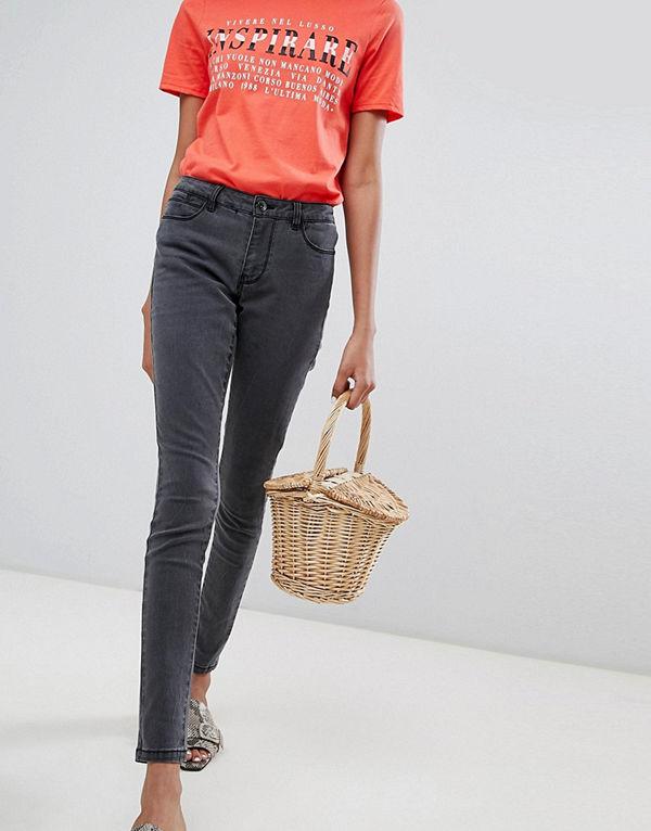 Vero Moda Grå skinny jeans Mörkgrå denim