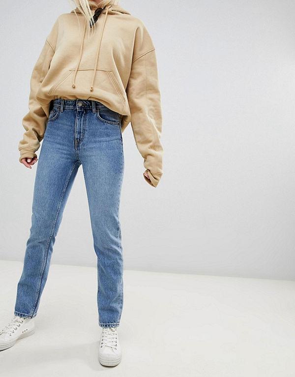 Weekday Seattle Mom jeans i ekologisk bomull med hög midja och San Francisco-tvätt
