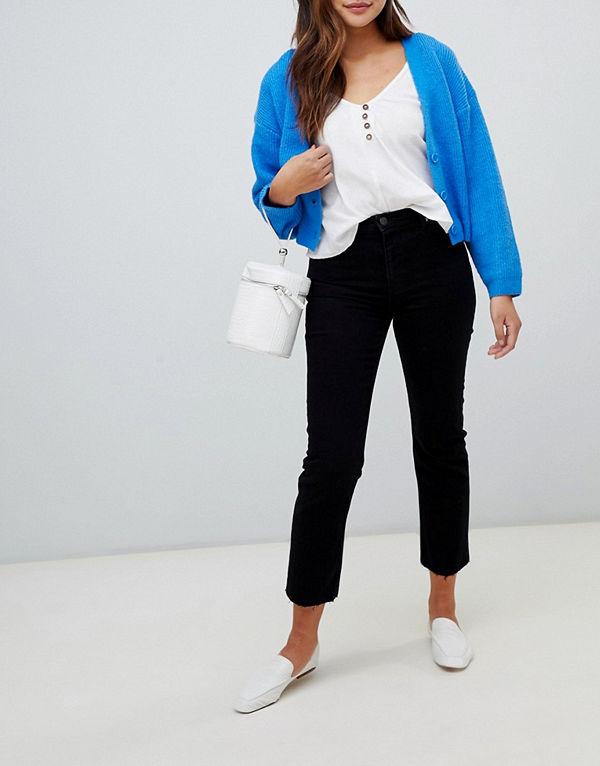 Miss Selfridge Raka jeans i svart