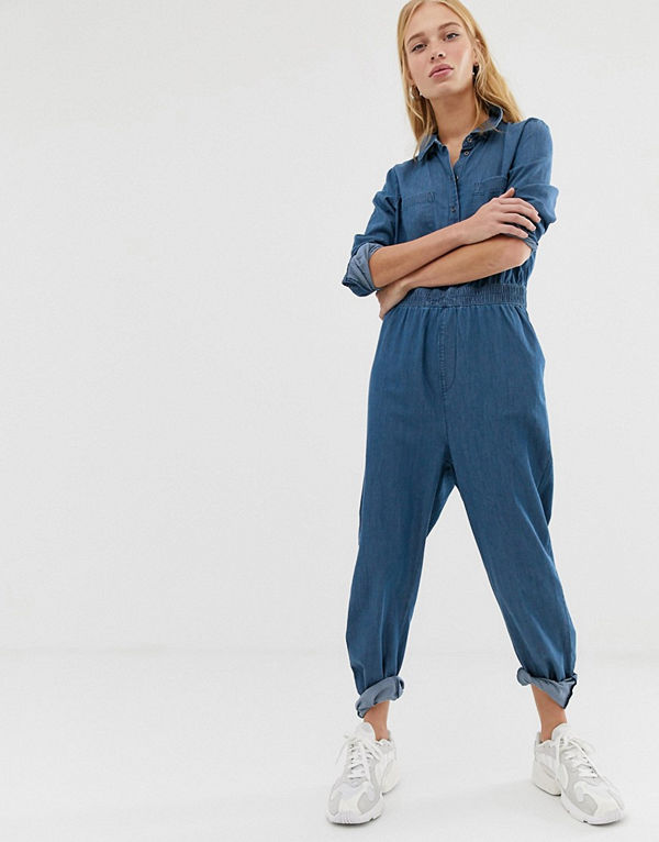 Noisy May Jeansoverall Blå