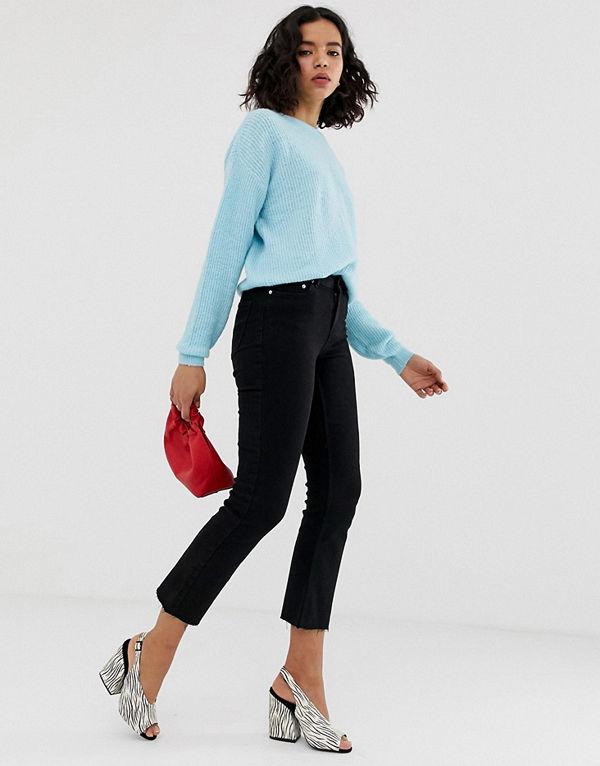 Vero Moda Flare jeans med råskuren fåll