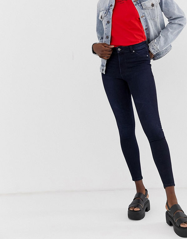 Cheap Monday High Spray Skinny jeans med hög midja Vapour blue