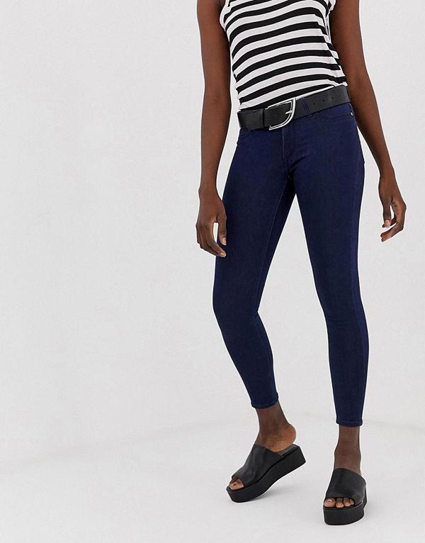 Cheap Monday Mid Spray Skinny jeans Indigofärgad satin