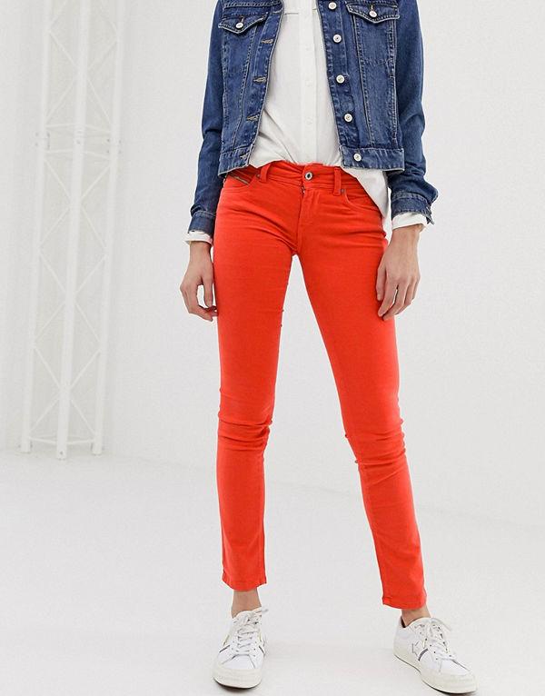 Pepe Jeans New Brooke Röda skinny jeans Crispy red