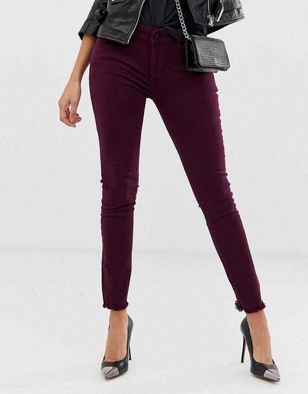 DL1961 Margaux Höga skinny jeans Aubergine