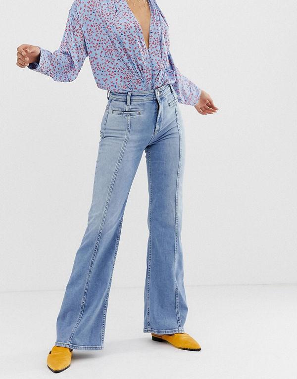 Free People Flared jeans Lt denim