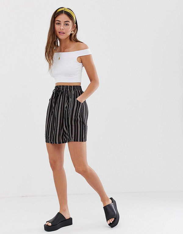 Brave Soul Louisa Randig kjol Striped combo
