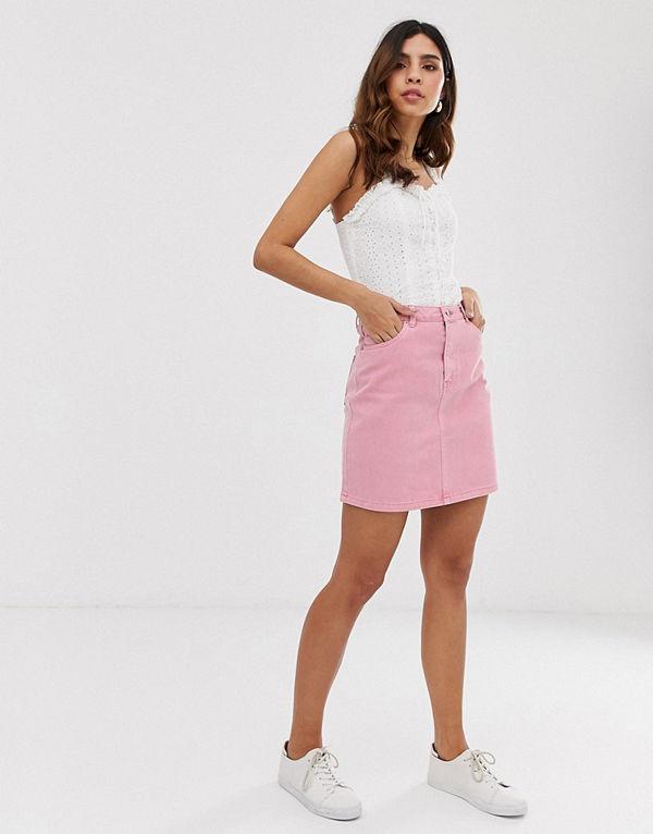Vero Moda Rosa minikjol i denim Rosa