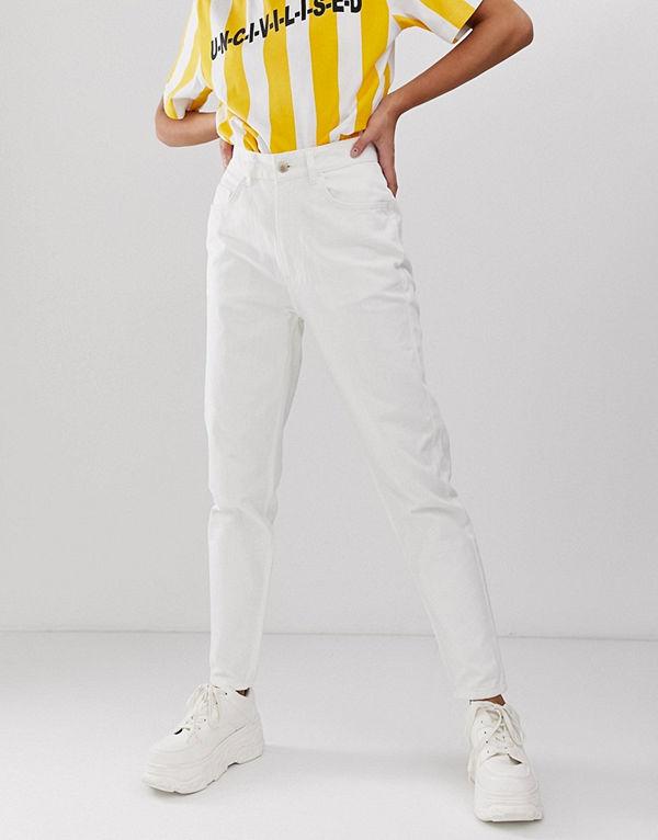 Uncivilised Core Naturvita mom jeans Elfenben