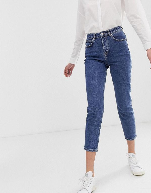 Selected Femme Mom jeans Mellanblå