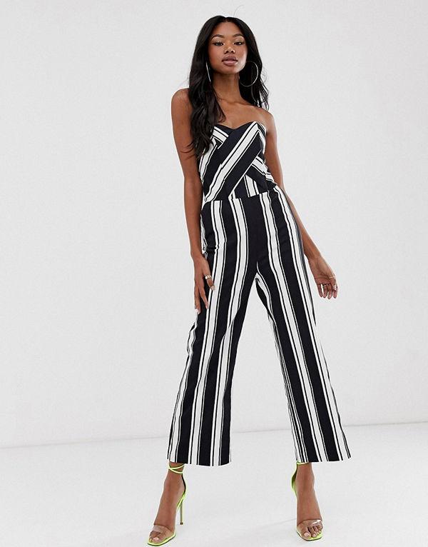 Morgan Randig bandeau-jumpsuit i culotte-modell Rand
