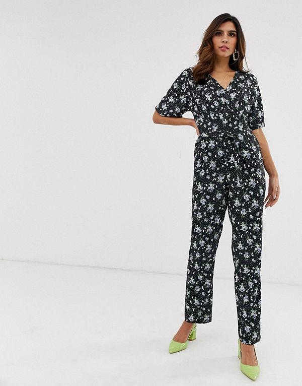 Uttam Boutique Blommig jumpsuit med omlott